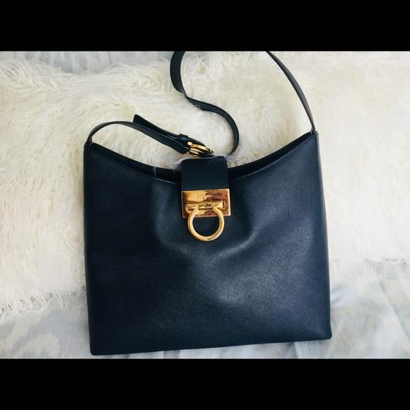 Salvatore Ferragamo Saffiano Leather Hobo Bag. M 5bda08abaa87700758326b27 9e5d980dadef0